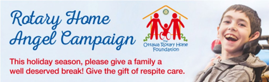 Rotary Home Angel Campaign donation banner - Please donate