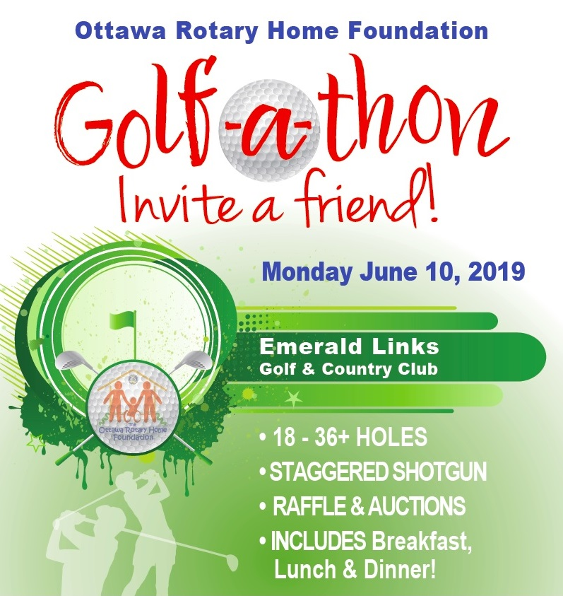 Ottawa Rotary Home Foundation golf-a-thon banner ad.
